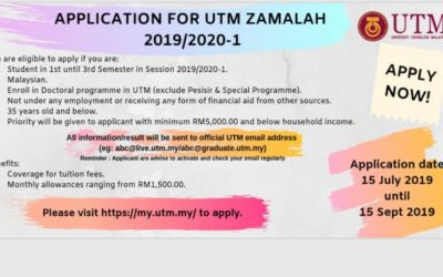 Application For UTM Zamalah 2019/2020-1