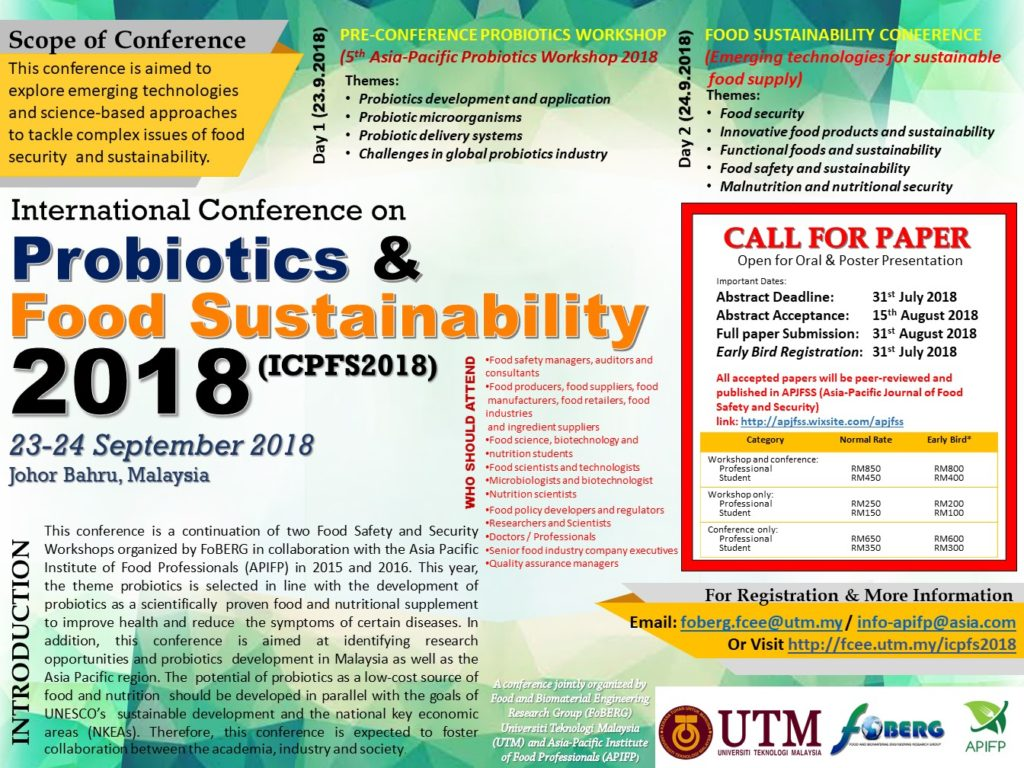International Conference on Probiotics and Food
