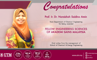 PROF. IR. DR. NORAISHAH AWARDED FELLOW OF ENGINEERING SCIENCES