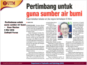 News on Groundwater (BM)
