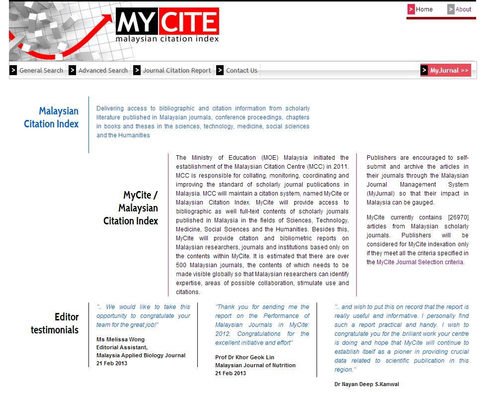 my cite front page