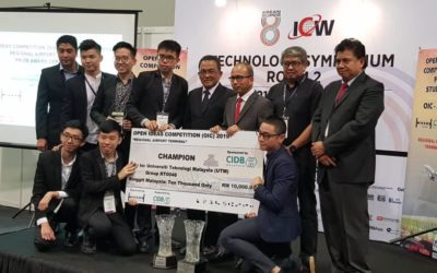Team UTM were announce as winner for MSSA/CIDB OIC 2019