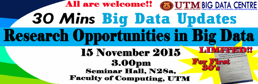 Research Opportunities in Big Data