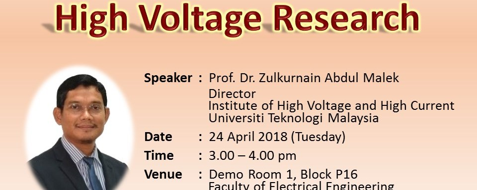 High Voltage Research Talk