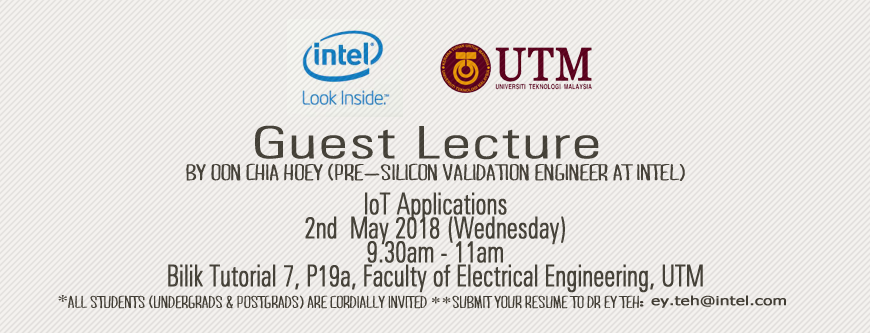 Guest Lecture by Intel: IoT Applications