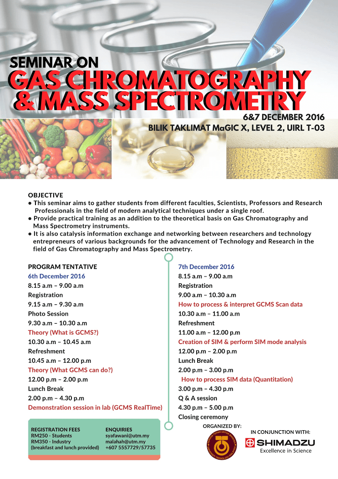 Invitation to Seminar on Gas Chromatography and Mass Spectrometry