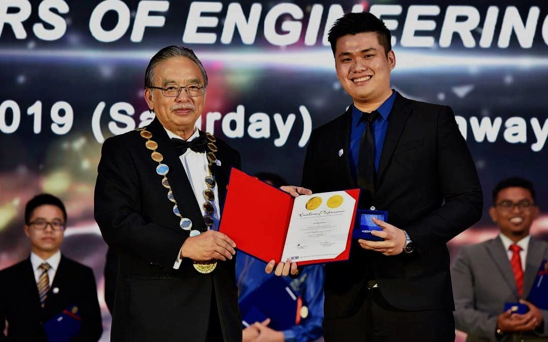 STUDENT RECEIVED IEM GOLD MEDAL AWARD