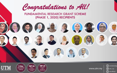 Congratulations to all recipients of Fundamental Research Grant Scheme (Phase 1, 2020)