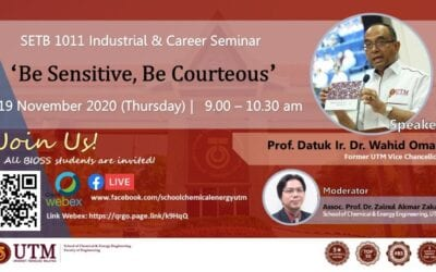 SETB 1011 : Industrial and Career Seminar – 'Be sensitive, Be courteous'