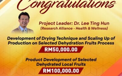 Congratulations Dr. Lee Ting Hun and his project team