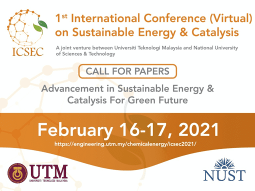 1st International Conference (Virtual) on Sustainable Energy and Catalysis (ICSEC 2021)