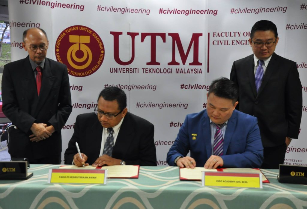 MoU between UTM FKA and CSDC Academy Sdn. Bhd.