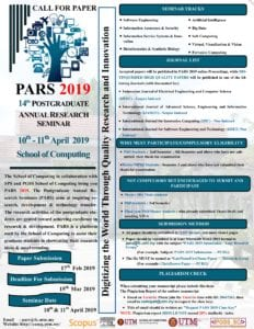 PARS 2019 CALL FOR PAPER