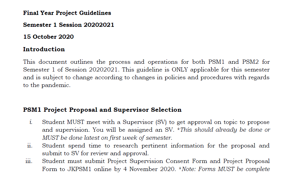 PSM Guideline for Sem1_20202021