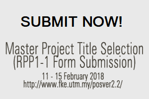 Master Project 1 (MKE* 1814) Title Submission 20172018-2