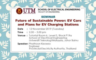 Seminar on Future of Sustainable Power: EV Cars and Plans for EV Charging Stations