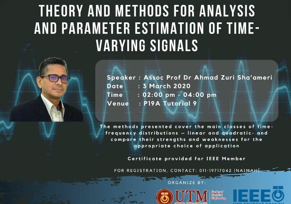 Technical Talk by Assoc. Prof. Dr Ahmad Zuri Sha'ameri