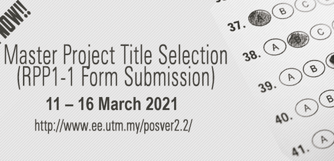 Master Project Title Selection 20202021-2