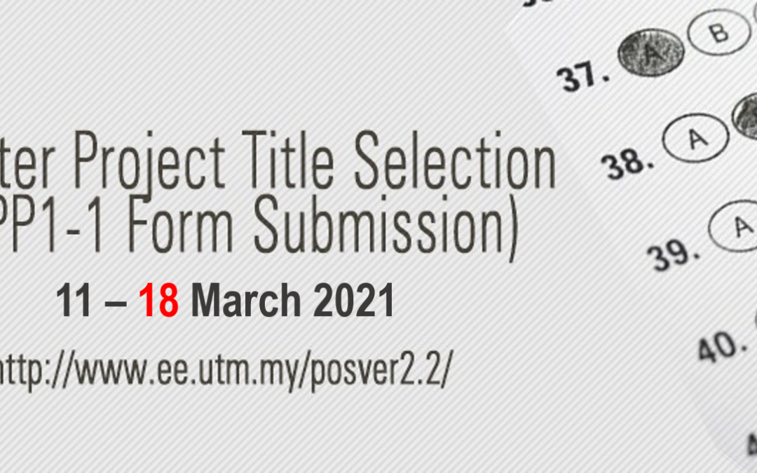 Extension of Deadline for Master Project Title Selection 20202021-2