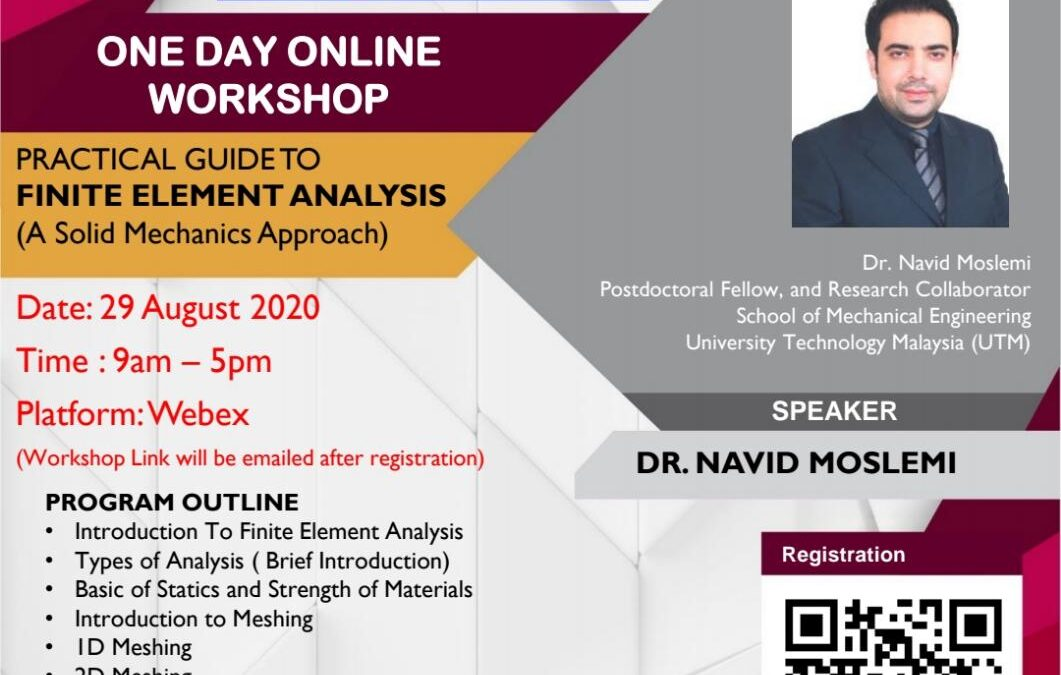 One Day Online Workshop: Practical Guide to Finite Element Analysis (A Solid Mechanics Approach)