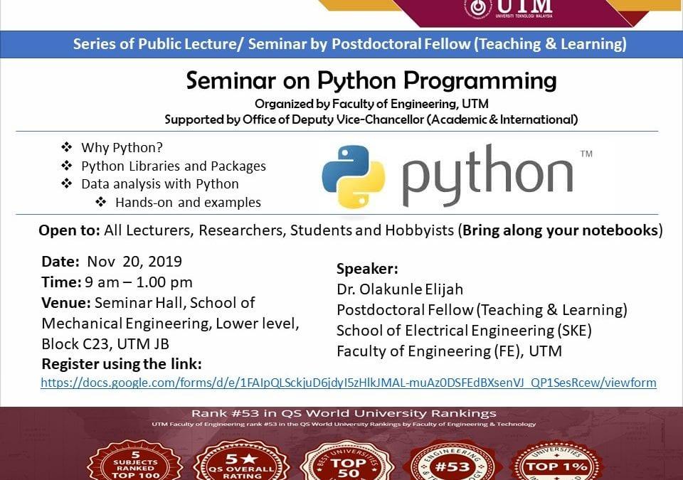 Seminar on Python Programming